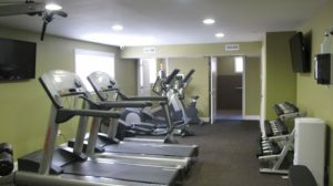 Treadmills and other equipment visible in Fitness Center