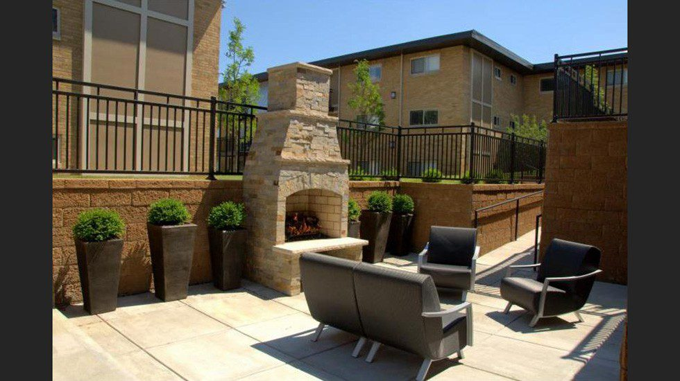Outside seating area at Indiana Flats