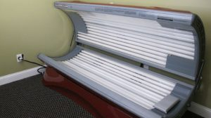 Tanning bed available for use